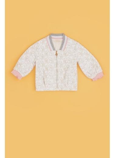 BG Baby Kız Bebek Desenli Ceket 20Fw0Bg2740 Renkli